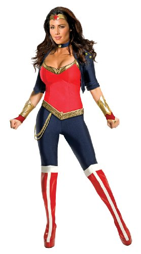Secret Wishes Sexy Wonder Woman Costume, Blue/Red, Large