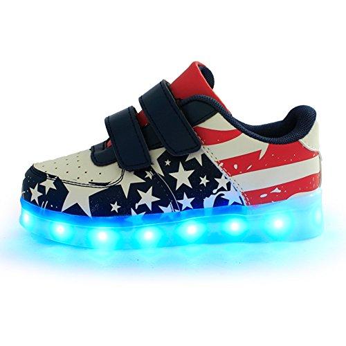 iiSport-Nouvelle 2016 Automne Sneaker argent pour bébé et petit enfant 7 Couleurs chargement USB LED Light chaussures de sport pour unisexe