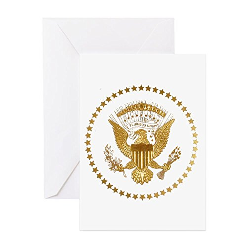 - CafePress - Gold Presidential Seal - Greeting Card, Note Card, Birthday Card, Blank Inside Glossy