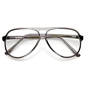 zeroUV - Vintage Inspired Tear Drop Fade Clear Lens Reading RX-able Eyewear Glasses (Smoke)