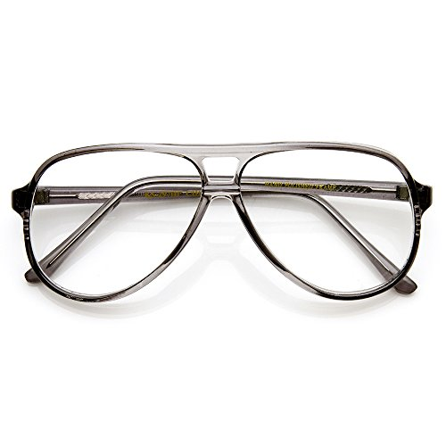 zeroUV - Vintage Inspired Tear Drop Fade Clear Lens Reading RX-able Eyewear Glasses - Glasses Rx Aviator