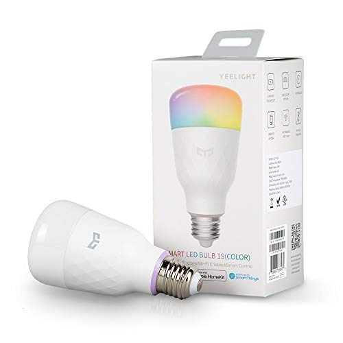 YEELIGHT Smart LED Bulb, Multi Color Rgb, Wi-Fi, Dimmable, 60W Equivalent, E26 110V, Smartphone Controlled, Compatible with Alexa, 1-Pack
