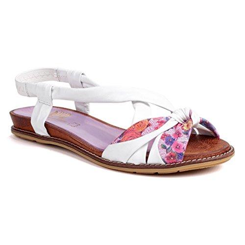 Riva Adore Damen Leder Schuhe Sandalen Sommerschuhe Riemenschuhe Damenschuhe Mehrfarbig