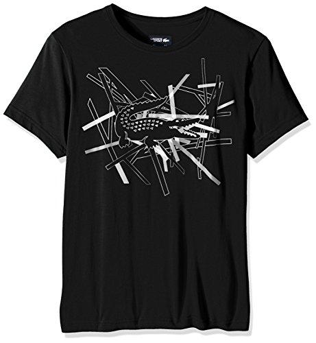 Lacoste Mens Tennis Sport Short Sleeve Technical Jersey Abstract Croc T-Shirt