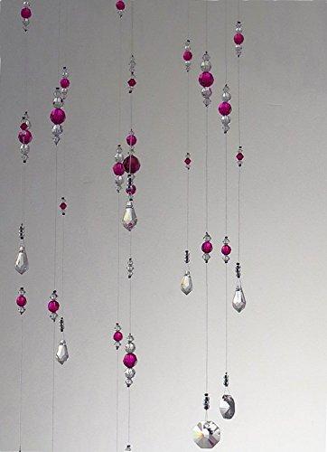 Small Pink Bling Nursery Decor Baby Room Idea Girl Mobile Suncatcher Xmas Gift Hanging Crystal Garland Swarovski Crystal Chandelier Sparkle Christmas Gift