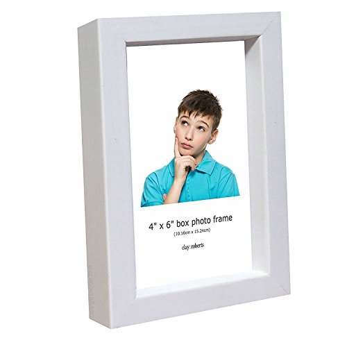 Wall and Table Top Photo Frame, 4 x 6 Inches, Standard Photograph Size, White, 4x6 Picture Frame