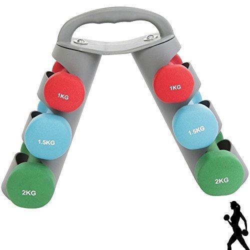 Max Fuerza 8 kg juego de mancuernas para entrenamiento de Yoga Pilates mancuernas para aerobic, 1 kg, 1,5 kg, 2 kg juego de pesas gimnasio en casa Fintess ...