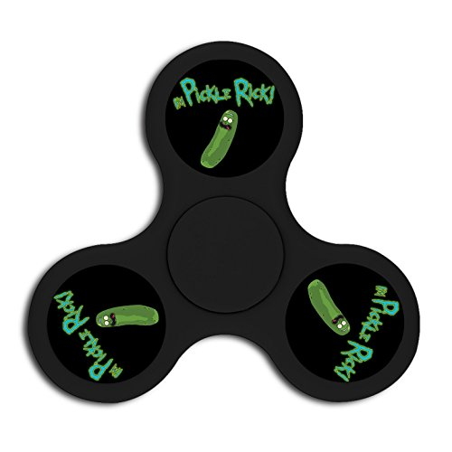 Price comparison product image OXV I am Pickle Rick and Morty Fidget Spinner Finger Spinning Toy Stress Reducer Toys for Relaxation EDC for ADD ADHD Double-faced Plastic