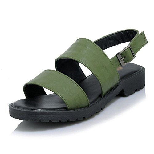 Open Footwears Green Perfues Sandals Toe Women Sandals Ladies Strap Shoes Size Sexy Flats Solid 32 43 Ankel RqAwYU
