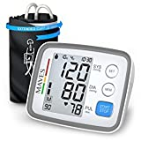 [Upgraded 2018] Blood Pressure Monitor -Automatic Digital Upper Arm BP Cuff -Fast Systolic & Diastolic Readings -2-Person Mode-3.5' Large LCD Display -Universal Cuff Size