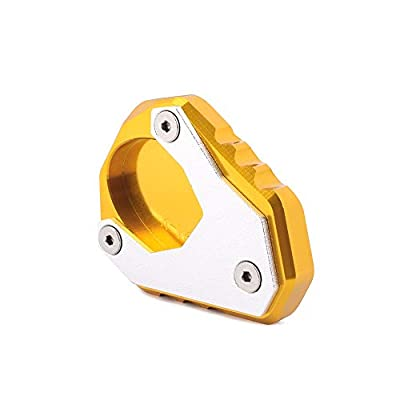AnXin Motorcycle CNC Kickstand Foot Side Stand Extension Pad Support Plate For KAWASAKI Versys 650 VERSYS650 2015 2016 2020 2020 Street Bike - Gold: Automotive