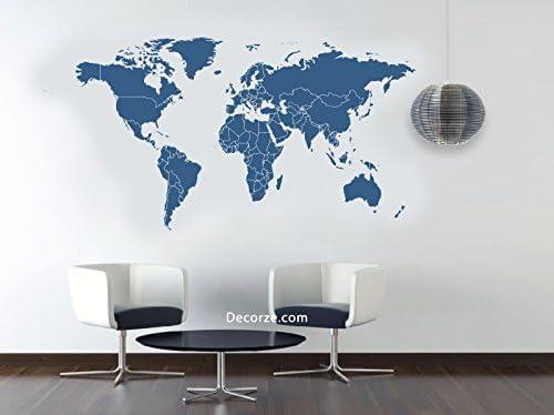 Mapa del Mundo plantilla -56/33 cm: Amazon.es: Hogar
