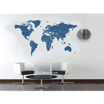 Amazon world map stencil 5633 inches home kitchen world map stencil 5633 inches gumiabroncs Gallery