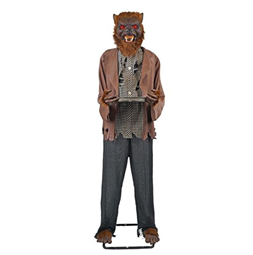 72 in. Animated Werewolf With Candy Tray Outdoor Halloween Holiday Yard Decor (Werewolf Halloween Decorations)