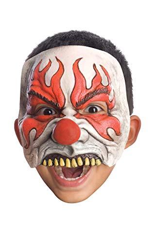 Half Clown Mask (Rubie's Half Chinless Clown Mask, Red, One)