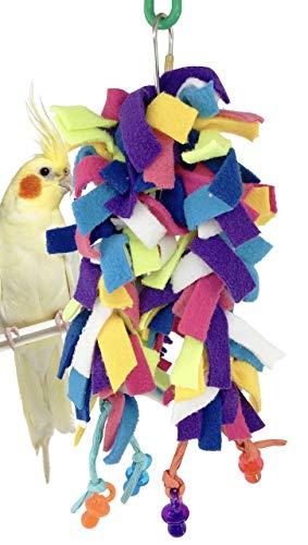 - Bonka Bird Toys 1680 Paci Fluff Bird Toy Parrot Cage Blanket Cages Parakeet Cockatiel Fleece Cover Pet Snuggle Birds Cozy Covers Bedding Aviary Plush Nesting Pets Parrots