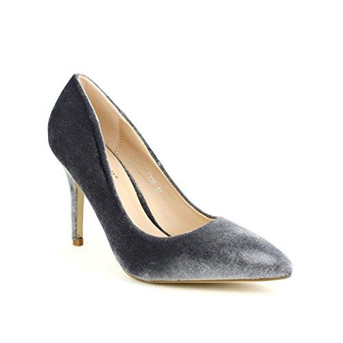 Dayne Escarpin Chaussures Femme Satin Cendriyon Gris 8PwqZSY
