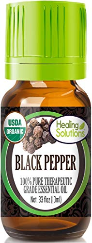 (Organic Black Pepper Essential Oil (100% Pure - USDA Certified Organic) Best Therapeutic Grade Essential Oil - 10ml)