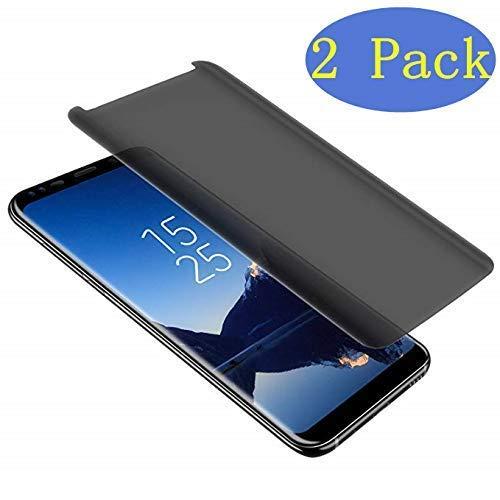 - LuettBiden Compatible Samsung Galaxy S9 Plus Privacy Tempered Glass Screen Protector, LuettBiden [2 Pack][3D Curved][Case Friendly][Anti-Scratch][9H Hardness] Screen Protector for Galaxy S9 Plus