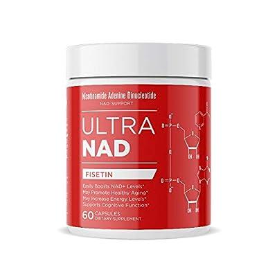 ULTRANAD Fisetin Supplement 250 mg, 60 Veggie Capsules Memory, Focus and Energy Brain Supplement Non-GMO and Vegan Dietary Flavonoid