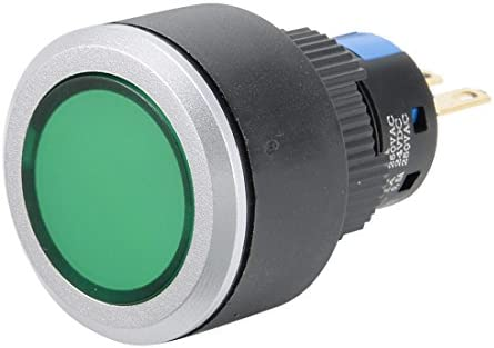 uxcell 押しボタンスイッチ プッシュボタンスイッチ AC 250V 0.5A SPDT 1NO+1NC モーメンタリ