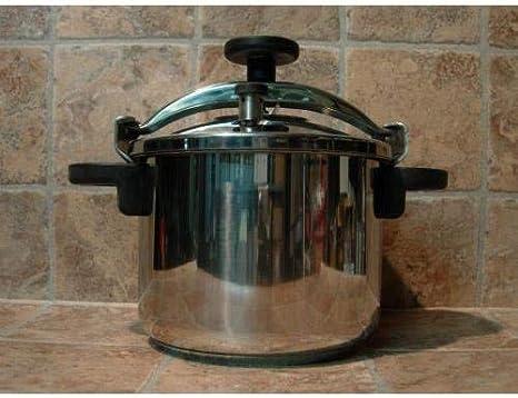 Monix Classica - Olla a presión tradicional de 6 litros, acero inoxidable, 22 cm, color gris: Amazon.es: Hogar