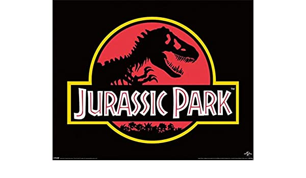 Pyramid International Jurassic Park Classic Logo Movie Poster 20x16 inch