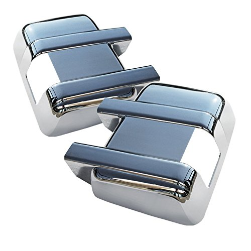 Restyling Factory 08-16 Ford F250/F350/F450/F550 Super Duty WITH Turn Signal Triple Chrome Plated Mirror Cover Cap 1 Pair (Chrome)