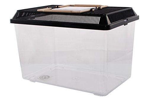 PET-PLAZA Kunststoffbox - Faunarium Medium - 29,5x19,5x20cm - ca. 7,5L Inhalts Volumen