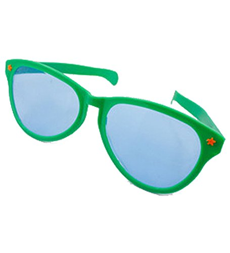 [Jumbo Clown Green Sunglasses - Huge Glasses Crazy Photobooth Accessories by Funny Party Hats] (Clown Glasses)