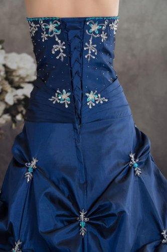GEORGE BRIDE Koenigsblau Einrichtung Ausschnitt mit Wunderschoenen Wunderschoene V Ballkleid Halfter rrPdwqHxR