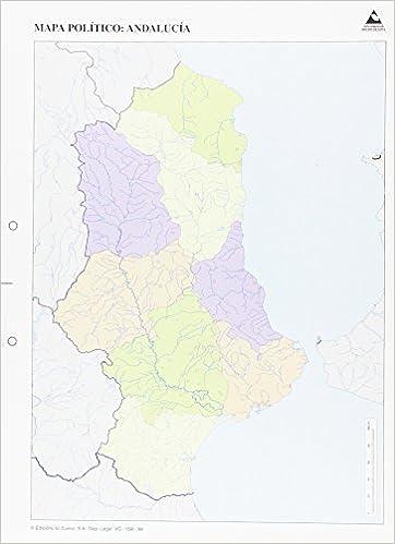 Mapa De Andalucia Politico.Mapa Politico Andalucia Mapas Mudos Amazon Es Edicions