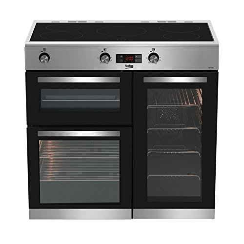 Beko KDVI90X 90cm Induction Range Cooker in Stainless Steel 5 Hotplate...