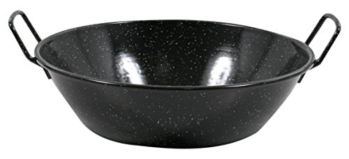 Esmaltaciones La Estrella Jaspeada-Deep Paella Pan, 32 cm, 5 litres
