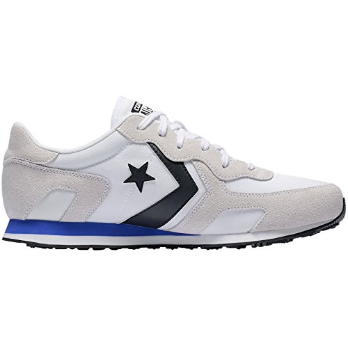 Converse Mens Thunderbolt Ox Suede Trainers White Hyper Royal