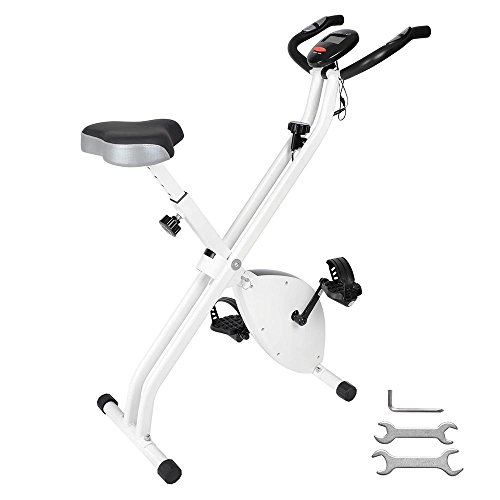 ReaseJoy Foldable Magnetic Exercise Bike Folding X...