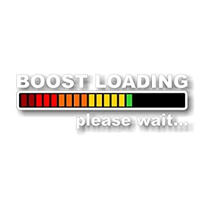 "9"" BOOST LOADING Vinyl Decal JDM Blower SuperCharger Roots Turbo B&M Car Sticker (White Lettering)"