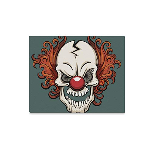 Wall Art Painting Evil Scary Clown Halloween Monster Joker Prints On Canvas The Picture Landscape Pictures Oil for Home Modern Decoration Print Decor for Living Room]()