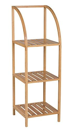 Spetebo Bambus Standregal 100 cm - 3 Böden - Holz Badezimmer ...