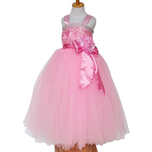 frilly pink prom dress - 7