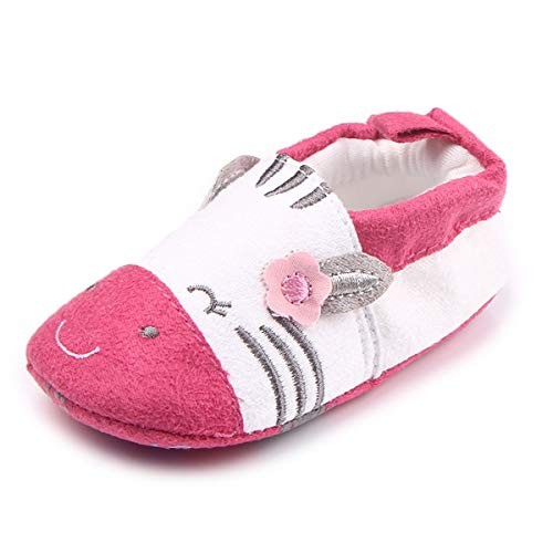 (Tutoo Christmas Baby Boys' Girls' Shoes Cotton Cute Animals Slippers Prewalker Newborn Infant Crib Shoes (5.1 inches(12-18 Months), D-red))
