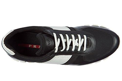 Prada Kvinna Skor Läder Utbildare Sneakers Svart