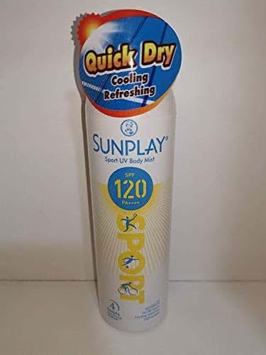 SUNPLAY Sport UV Body Mist SPF 120 165g-Can Apply on Wet Skin -Effectively Block 99% Harmful UV