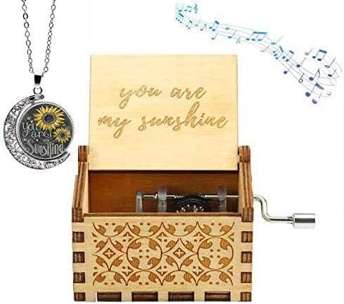 Funmo You Are My Sunshine Cajas de música de Madera, grabadas con láser, Vintage, Caja Musical de Madera, Regalos para cumpleaños, Navidad, día de San Valentín: Amazon.es: Hogar