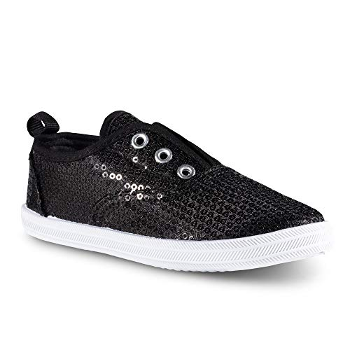 - Chillipop Slip-On Laceless Fashion Sneakers for Girls, Boys, Toddlers & Kids Black