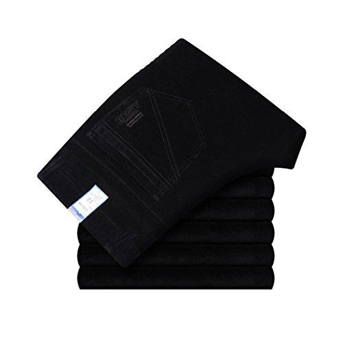 Velours Mocotono Casual Homme Noir Hiver Côtelé Pantalon Automne Elastique BBZEf