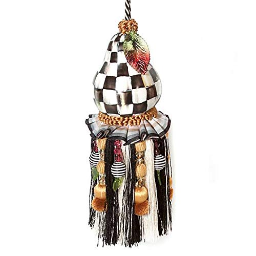 MacKenzie-Childs Courtly Check Pear Tassel by MacKenzie-Childs
