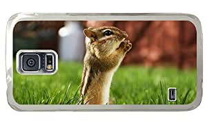 Hipster Samsung Galaxy S5 Case crazy cover Cute Chipmunk PC Transparent for Samsung S5