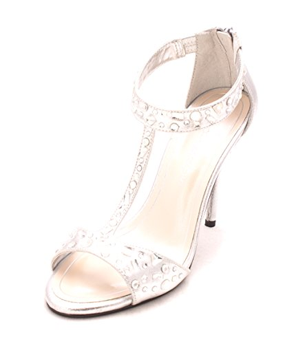 Pumps Open T Classic Caparros Womens Metallic Silver Esther Toe Strap Tqppgx