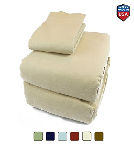 Waterbed Flannel Sheets - Mayfield 100% Cotton Flannel Water Bed Sheet Set Super Single Hard Side Camel